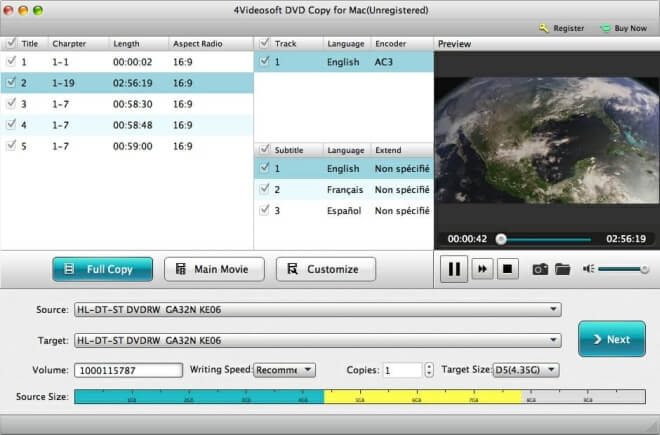 Download 4Videosoft DVD Copy for Mac