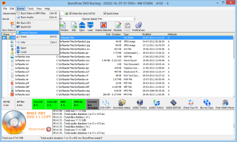 download burn4free freeware dvd burning software
