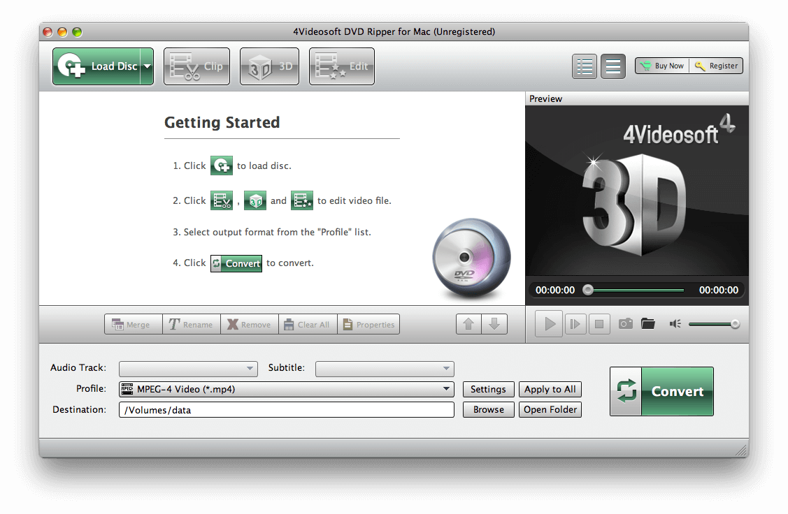 How to convert DVD disc to MP4 on Mac