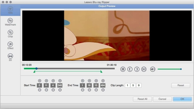 Leawo Blu-ray Ripper output preview screenshot