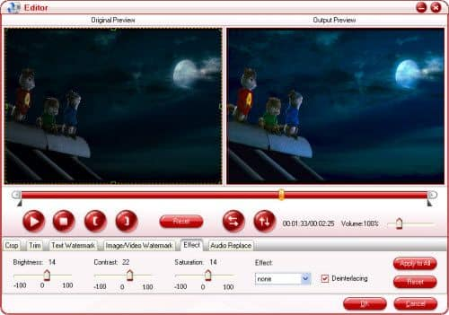 Pavtube Blu-ray Copy effects settings