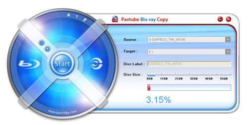 Pavtube Blu-ray Copy main screen